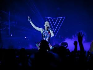 Katy Perry se apresenta em São Paulo nesta sexta (25). A cantora americana é atração do Rock in Rio no domingo (27) (Foto: Caio Kenji/G1)