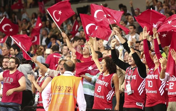 Torcida da Turquia (Foto: Fiba)