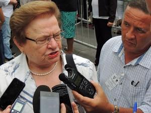 Luiza Erundina disse que esta à disposição do partido (Foto: Katherine Coutinho/G1)