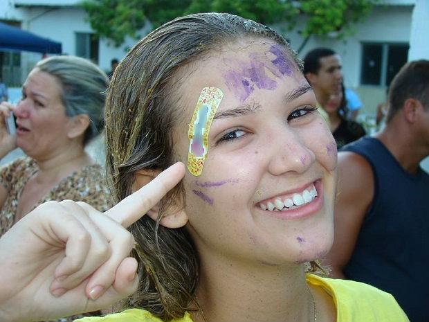 Giulia participou de trote depois da aprovação (Foto: Arquivo Pessoal/Giulia Ximenes Verdi)