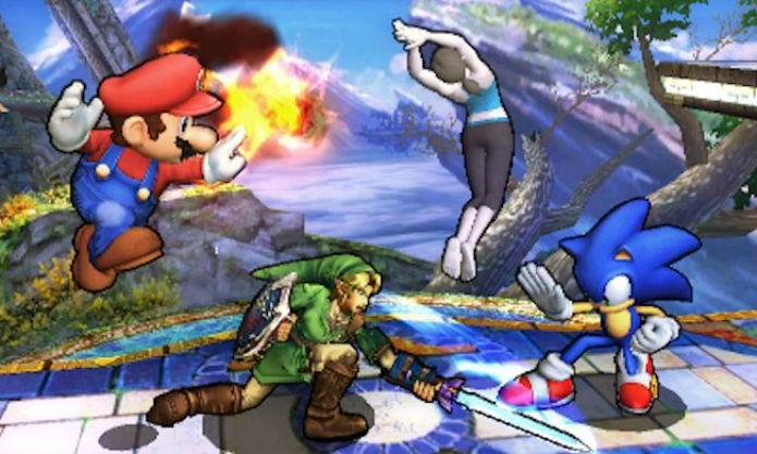 Super Smash Bros para 3DS trouxe a pancadaria para os portáteis (Foto: DIvulgação/Nintendo)