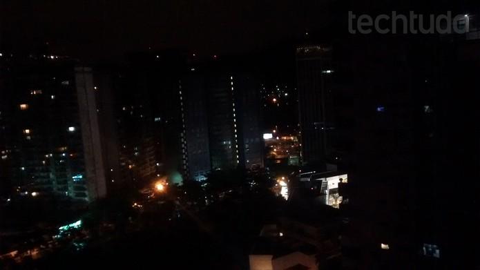 Foto feita com o Moto G durante a noite (Foto: Isadora Díaz/TechTudo)