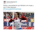 Griezmann é multado por homenagear esposa em comemoração e reclama