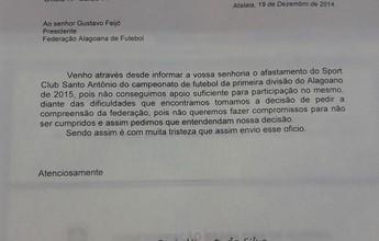 Agora é oficial: Sport Atalaia desiste de participar do Campeonato Alagoano