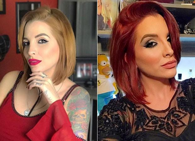 Antes e depois de Clara Aguilar (Foto: Reprodução)