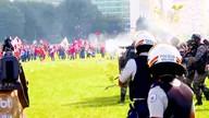 Protesto na Esplanada dos Ministérios termina com 49 feridos