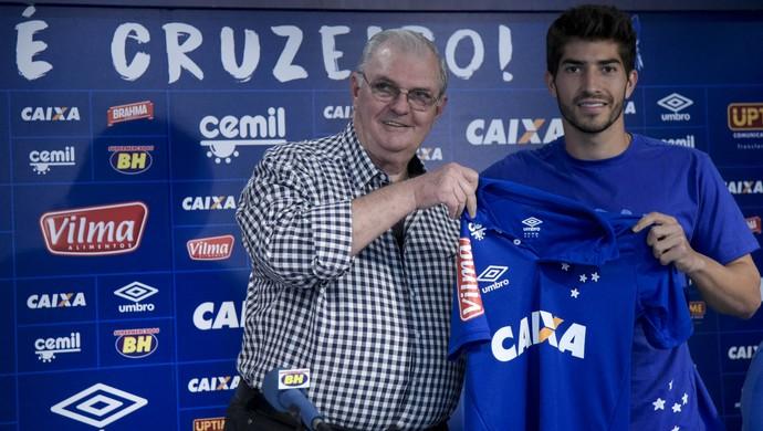Gilvan de Pinho Tavares e Lucas Silva; Cruzeiro (Foto: Light Press)