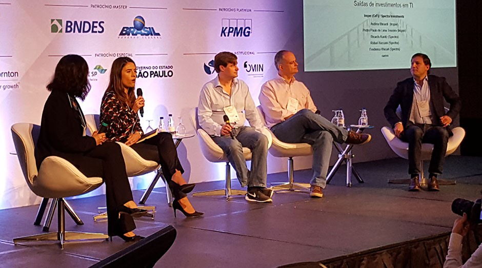Investidores debatem futuro do venture capital no país em conferência (Foto: Luan Flavio Freires)