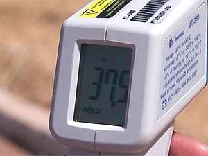 Temperatura em Barreiras, região oeste da Bahia (Foto: Reprodução/TV Oeste)