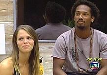 Juliana e Airton no BBB 7 (Foto: TV Globo)