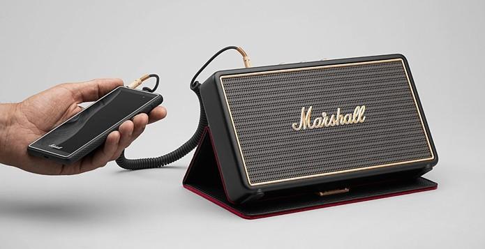 Caixa de som pode se conectar com smartphones por Bluetooth ou fio (Foto: Reprodução/Marshall)