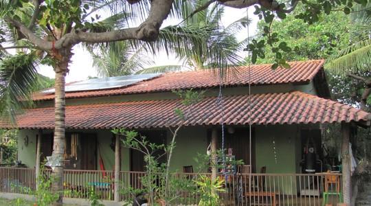 painel solar na casa de Danielle (Foto: Arquivo pessoal)
