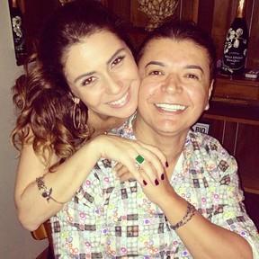 Giovanna Antonelli e David Brazil no aniversário da atriz no Rio (Foto: Instagram/ Reprodução)