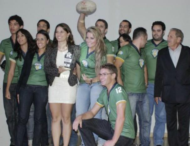 Time de Rugby de Montes Claros recebeu homenagem no Troféu Bola Cheia do ano passado. (Foto: Valdivan Veloso / Globoesporte.com)