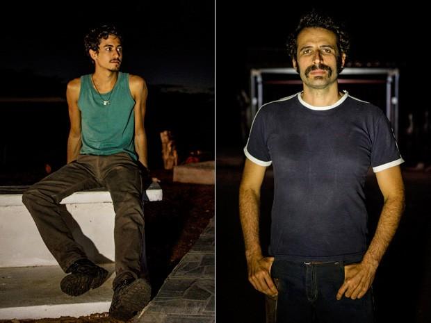 Jesuíta Barbosa (Fortunato) e Cesar Ferrario (Bigode de Arame) (Foto: Fábio Rocha/TV Globo)