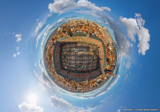 Imagem 360º de Madrid, na espanha (Foto: AirPano/Caters News)