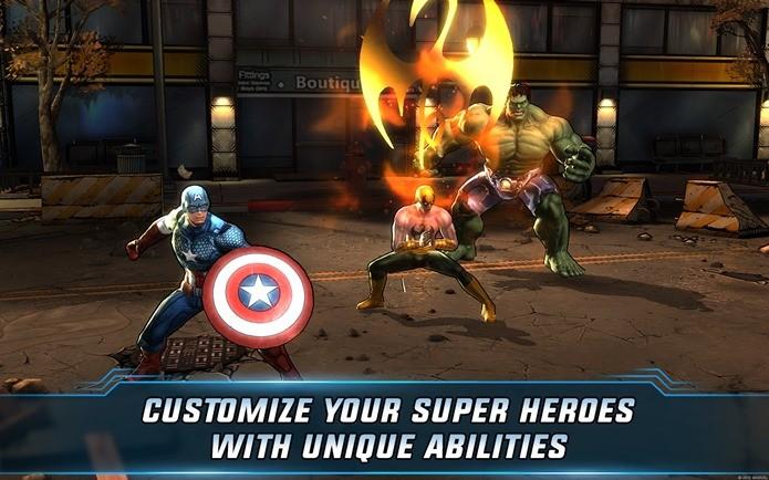 Monte sua própria equipe de Vingadores em Avenger Alliance 2 (Reprodução / Marvel)
