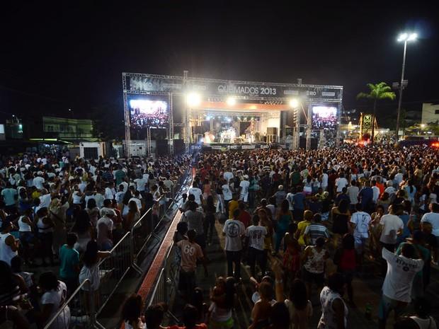 Cerca de 15 mil pessoas, segundo a PM, assistiram aos shows (Foto: Mariana Ares / Divulgação)