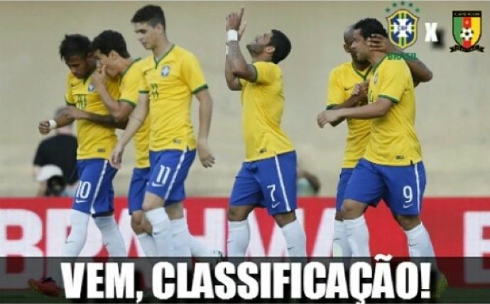 cbf post brasil camarões (Foto: Rafael Ribeiro / CBF)