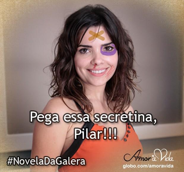 Aline machucada (Foto: Amor à Vida / TV Globo)