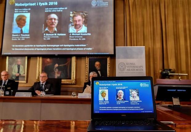 Nobel de Física foi para três britânicos (Foto: EFE)