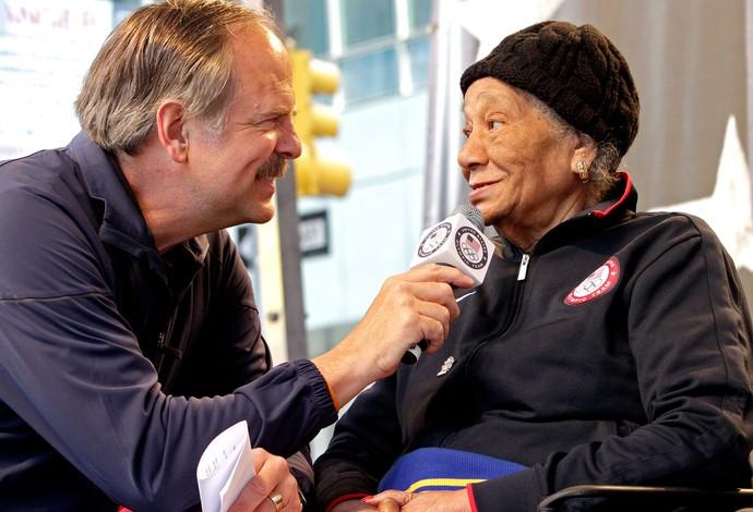 Alice Coachman primeira mulher negra a conquistar uma medalha olímpica (Foto: AP)