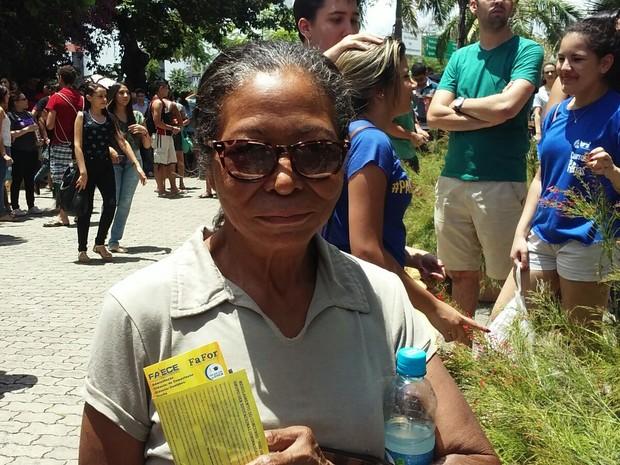 Vou castigar a redação do Enem, diz candidata, confiante (Foto: Gioras Xerez/G1)