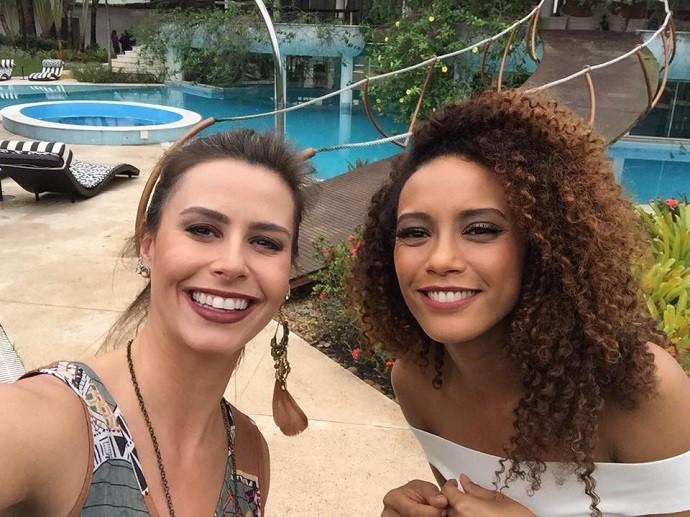 Dai ao lado de Taís Araújo, cuja personagem será casada com Brau (Foto: Divulgação/RPC)