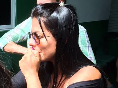 Viúva Rosangela Loureiro Cleber Santana (Foto: David Abramvezt)