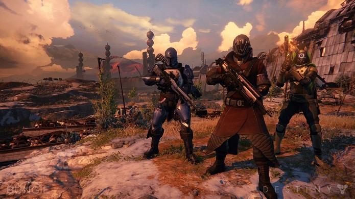 Destiny traz diversas missões cooperativas com equipes de três Guardiões. (Foto: Divulgação)