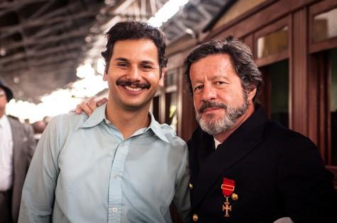 """Munir Kanaan, que estará em  """"Dois irmãos"""", com o português Joaquim de Almeida (Foto: Davi de Almeida)"""