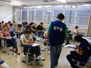 Provas da 1ª fase do vestibular 2012/2 da UFG foram realizadas no domingo (6) (Foto: Divulgação/Carlos Siqueira)
