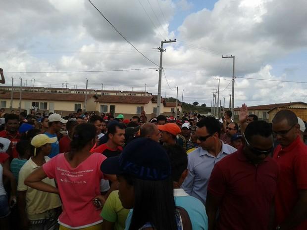 Mobilização dos moradores foi pacífica, diz PM  (Foto: Divulgação/ Polícia Militar)