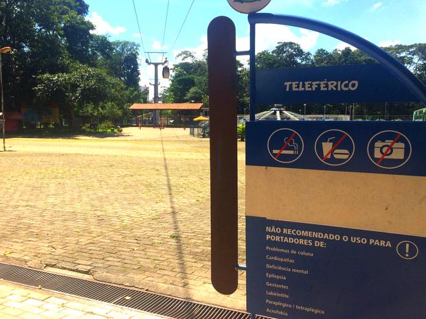 Teleférico vai ligar Parque Mutirama ao Parque Botafogo, em Goiânia, Goiás (Foto: Murillo Velasco/G1)
