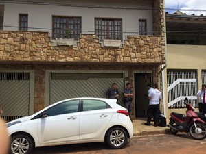 Crime aconteceu no local do trabalho da vítima  (Foto: Thaís Andrioli/ TV TEM)