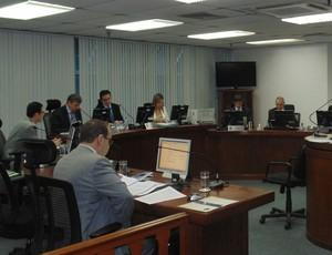 Julgamento do América-MG no STJD (Foto: Daniela Lameira/Site STJD)