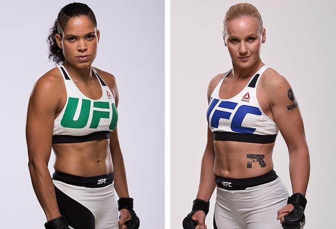 MONTAGEM - UFC Amanda Nunes x Valentina Shevchenko (Foto: Editoria da Arte)