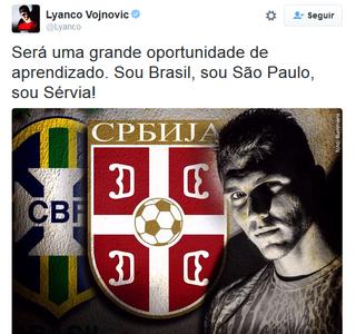 lyanco são paulo  (Foto: Reprodução/Twitter)
