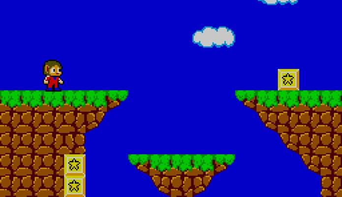 Alex Kidd in Miracle World vinha na memória do Master System (Foto: Reprodução/André Mello)