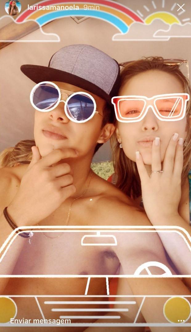 Larissa Manoela e Thomaz Costa (Foto: Reprodução/Instagram)