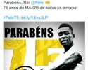 Clubes, jogadores e entidades dão os parabéns a Pelé nas redes sociais