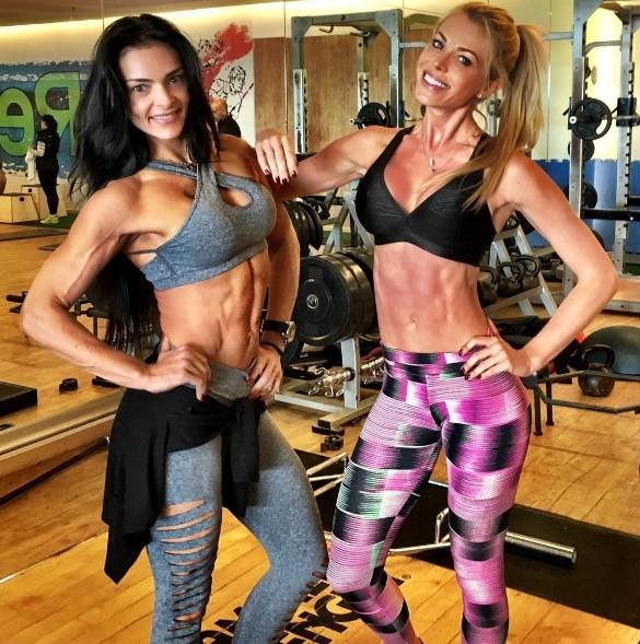 Caroline Bittencourt e Karina Marin (Foto: Arquivo Pessoal)