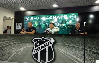 """Ceará anuncia reforços e apresenta Gilmar Dal Pozzo: """"Muito motivado"""""""