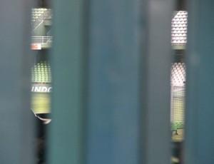 Treino do Coritiba foi fechado no Estádio Couto Pereira (Foto: Gabriel Hamilko / GloboEsporte.com)