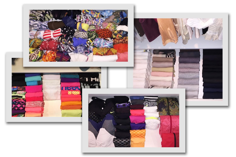 No closet de Deborah, uma gaveta foi dedicada a biquínis, enquanto outras três foram ocupadas por roupas de ginástica (Foto: Divulgação)