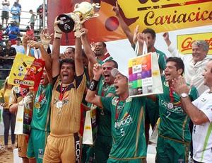 Cariacica vence Vila Velha e conquista título  do XIII Estadual de Beach Soccer (Foto: Paula Livre)