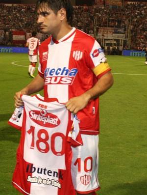 Paulo Rosales, jogador do Union Santa Fe, da Argentina (Foto: Divulgação/site oficial do Union Santa Fe)