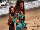 Claudia Leitte e Ivete Sangalo gravam comercial em praia na Bahia