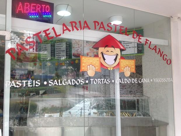 Pastel de Flango em Santos (Foto: João Paulo de Castro)