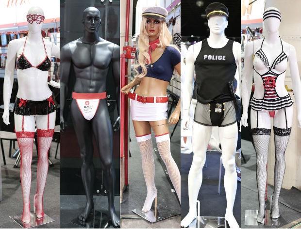 Fantasias eróticas nunca saem de moda e fazem sucesso no evento (Foto: Rafael Cusato/Brazil News)